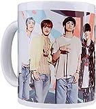 KEROTA Taza de café de cerámica coreana Bangtan Boys Tazas estéticas A.R.M.Y taza de té con mango