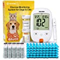 AUVON Blood Glucose Monitor Specifically Calibrated for Dog and Cats, High-Tech Veterinary Animal-Specific Blood Sugar Test Kit with 100 Test Strips, 50 30G Lancets, Lancing Device and Carrying Bag