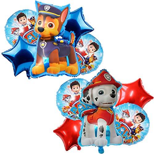 Paw Dog Patrol Palloncini Compleanno,10 Palloncini in foglio di alluminio Giganti,Palloncini Compleanno Bambina e Bambino Palloncino Feste Palloncini Gonfiabili Palloncini Happy Birthday Elio