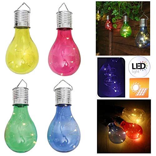 8x LED Solar Glühbirne Gartenleuchte Gartenlampe Solarlampe Glühlampe Hängen Deko Party
