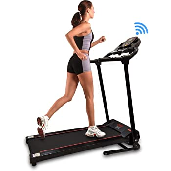 SereneLife SLFTRD18 - Smart Folding Compact Treadmill with Downloadable App & Bluetooth connectivity