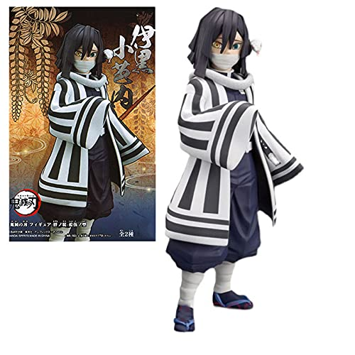ZHHAO 15 cm Anime Demon Slayer Figura Iguro Obanai PVC Figuras de Modelo de acción Kimetsu No Yaiba Estatuas de Dibujos Animados Juguetes de Regalo (con Caja)