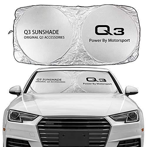 ZKL shop per Audi A3 8P 8V A4 B8 B8 B6 A6 C6 C5 A5 Q3 Q5 Q7 TT Accessori Automobile Auto Piano Parabrezza Sole Tronco Coperchio Anti UV Reflector Protector Visiera (Color : for Q3)