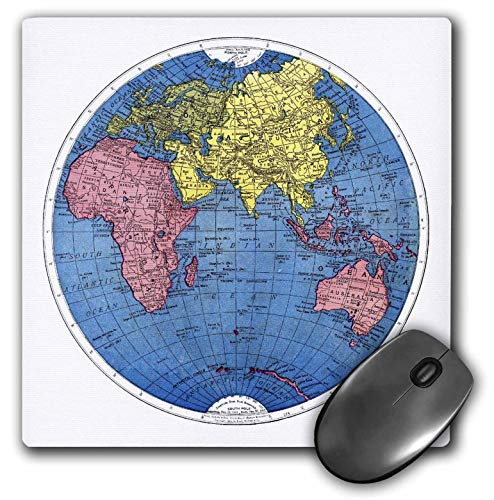 AEMAPE Alfombrilla de ratón Azul Rosa Amarillo Mapa del Mundo