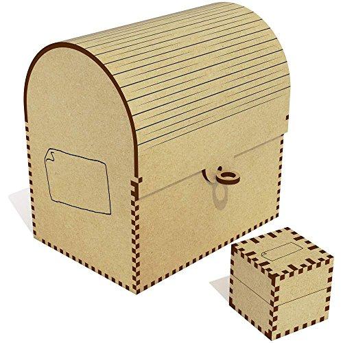 Azeeda 'Papier' Groß Schatztruhe / Schmuckschatulle (TC00006613)