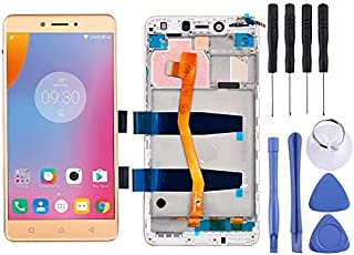 Lingland cell phone kit LCD Screen and Digitizer Full Assembly with Frame for 5.5 inch Lenovo K6 Note K53a48(Black) Screen...