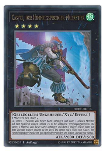 serie Yu-Gi-Oh Duel Devastator Box Einzelkarten Playsets Auswahl - 1. Auflage deutsch (DUDE-DE018 Castel, Der Himmelssprenger Musketier)