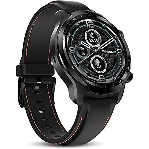 TicWatch Pro 3 LTE Smartwatch, Wear OS de Google, conectividad celular de Vodafone OneNumber y Orange, seguimiento de frecuencia cardíaca y NFC, IP68 Swim Ready, batería de larga duración