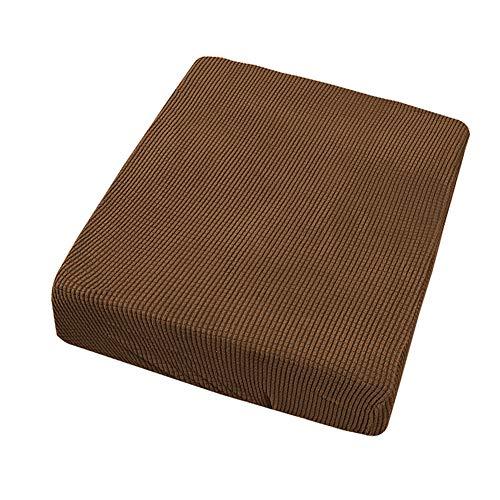 ROKFSCL Funda de sofá para decoración del hogar, sólida, elástica, resistente al polvo, duradera, universal, poliéster moderno (para una persona café ligero)
