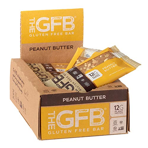 The GFB Gluten Free Protein Bars, Peanut Butter, 2.05 Ounce (Pack of 12), Vegan, Dairy Free, Non GMO, Soy Free