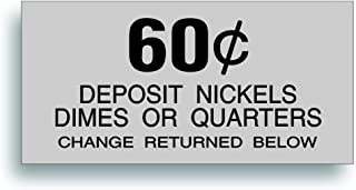 Restoration Decal - for Vintage Soda Pop Soft Drink Vending Coin Change Slot Compatible with Dixie Narco Pepsi, Coca Cola Machine - 60 Cent - 2.188 x 4.5 Inch