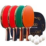 Senston Raquettes de Ping-Pong, Professionnel Raquettes de Tennis de Table pour Les activités en Famille, École et Club de Sport