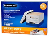 Bankers Box Heavy Duty File Boxes Letter/Legal, 10 Count