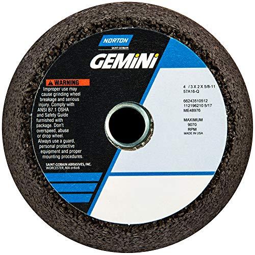 Norton Gemini Portable Snagging Abrasive Wheel, Type 11 Flaring Cup, 5/8