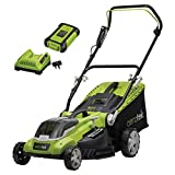 Aerotek 40V X2 Series Cordless Lawnmower, Lithium-Ion 4Ah Battery & Charger...