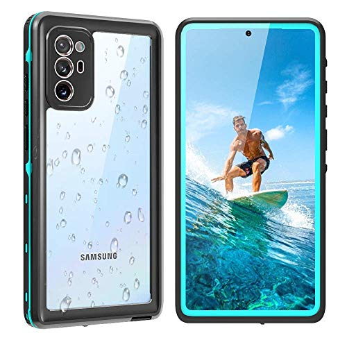 """Galaxy Note 20 Waterproof Case 5G, Shockproof Shatterproof Note 20 Case with Screen Protector, 360 Protective Full Body Shell Underwater Cover for Samsung Galaxy Note 20 (6.7"""",2020 Blue)"""