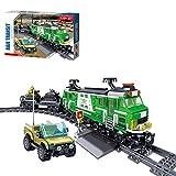 Fujinfeng City Tren Navidad Set, 890Piezas Trenes Electricos Maquetas Trenes de Juguete, Tren Electrico Juguete, Compatible con Lego