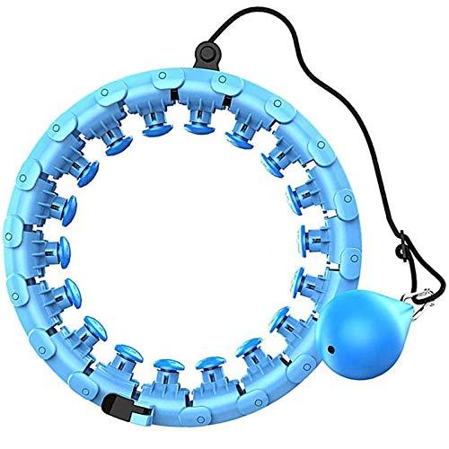 Hula Hoop, Fitness Auto-Spinning Hoop Intelligente Contando Vita Sottile Addome, Vita Ginnico del Cerchio per la Perdita di Peso di Esercitazione, Blu