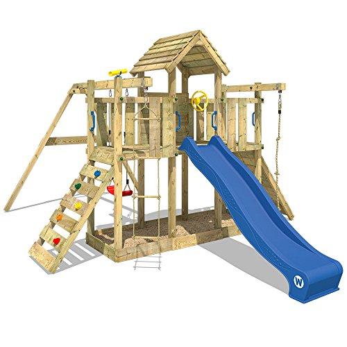 Spielturm Little Robin Kletterturm WICKEY mit Schaukel und Rutsche BLAU