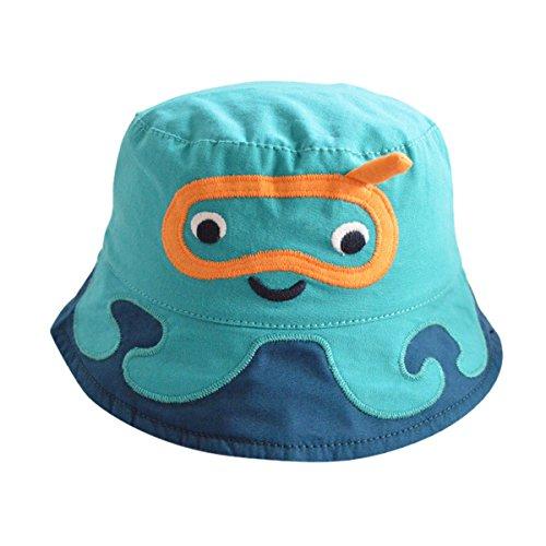 Happy Cherry - Sombrero para Bebes Niña Niño de 3 Meses - 8años Gorro Verano de Sol Gorra Bucket Hat con ala Lindo Cartoon