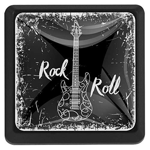 Schublade zieht Griffe Rod Roll Gitarrenschrank Schminktisch Crystal Dresser Knob Zuggriff mit Schrauben 3St