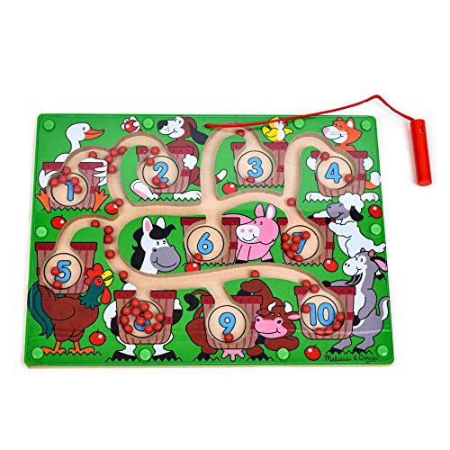 Melissa & Doug Magnetic Wand Number Maze - Wooden Puzzle Activity