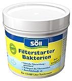 Söll 11602 FilterstarterBakterien hochreine Mikroorganismen für Teiche 100 g - natürliche Filterbakterien aktivieren die Biologie der Filter im Gartenteich Fischteich Koiteich Schwimmteich