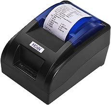 Aibecy Impresora de recibos térmica portátil de 58mm USB Impresora de billetes Impreso por cable Soporte de impresión Cajón de efectivo Compatible con ESC / POS para sistemas Windows/Linux/Android