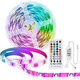 LED Streifen 10m RGB LED Strips Sync mit Musik Mehrfarben Lichtstreifen Farbwechsel Kit mit 40 key Fernbedienung, SMD 5050 LED Beleuchtungsstreifen für die Wohnküche Weihnachtsschlafzimmer