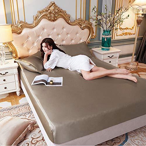 Sommer Eisseide konformes Bettlaken, rutschfeste Bettdecke für 1,8 m Bett, einzelne...