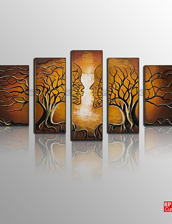 KK&MM bpago ® amore moderno affascinano affascinano affascinano 5 pezzi pittura a olio dipinta a mano B07CSXSDG1   Maßstab ist der Grundstein, Qualität ist Säulenbalken, Preis ist Leiter  9160e2