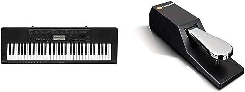 Casio CTK-3500 Clavier Noir & M-Audio SP-2 - Pédale de Sustain Universelle de Type Piano pour des Claviers Électroniq...