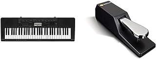 Casio CTK-3500 Clavier Noir & M-Audio SP-2 - Pédale de Sustain Universelle de Type Piano pour des Claviers Électroniques, ...