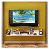 Mobiliario de dormitorio Marco de la pared de TV gabinete de TV rack Set Top Box-Shelf TV flotante de almacenamiento de la consola Unidad de almacenamiento en rack estante de DVD Caja de cable de mont