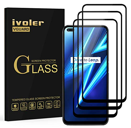 iVoler 3 Pieces Tempered Glass Film for Oppo Realme 6 PRO, [Full Cover] Screen Protector Protective Film for Oppo Realme 6 PRO