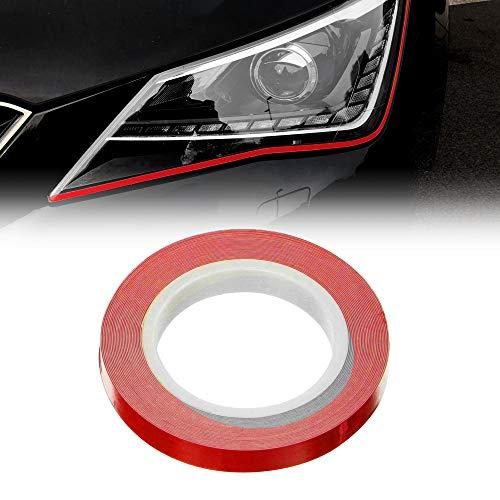 Quattroerre 10800 Stripes Adesive Eyeliner voor koplampen, auto, rood