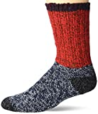 Woolrich Unisex-Adult's Merino Colorblock Ragg Wool Sock, flame, Large