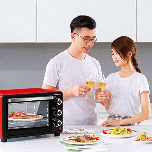 51vBH3IgYgL. SL500  - 30-Liter-Multifunktionsherd, Mini-Ofen-Funktionen, 1500W Leistung, leicht zu reinigendes Futter, Minute Timer, kann Pizza, Toast, Bagels, Pizza, gefrorene Snacks backen