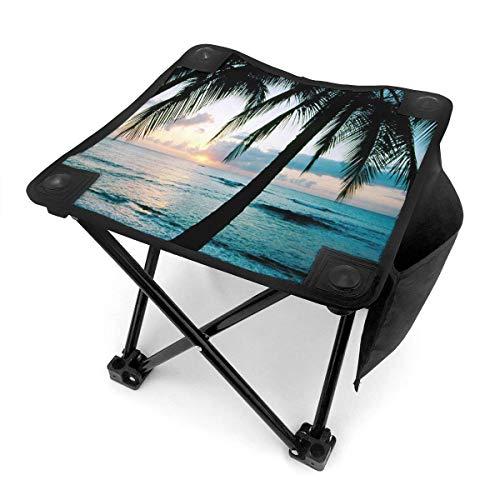 End Nazi Tabouret de Camping chaises Pliantes Sea Beach Wave Palmier Bleu siège de Chaise Portable