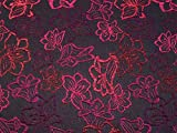 Minerva Crafts Brokat-Stoff, Meterware, Fuchsia