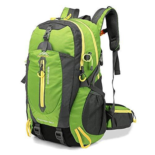 Lixada 40L Resistente al Agua Mochila, Portátil Mochila Trekking, Laptop Daypack, Durable Impermeable, para Escalada, Viajes, Actividades al Aire Libre (Verde)
