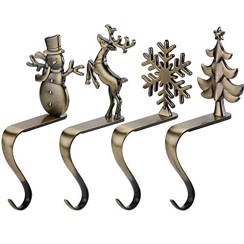 Celecily Weihnachtsstrumpf Halter Kamin Haken - Weihnachtsstrumpf Aufhänger für Weihnachtsstrümpfe Weihnachten Haken Halter Weihnachtsstrumpf Haken Kamin Dekoration Weihnachten Kamin Weihnachten