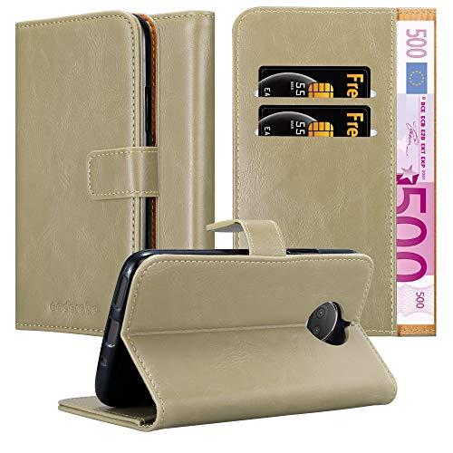 Cadorabo Hülle für Motorola Moto G5S Plus in Cappuccino BRAUN – Handyhülle mit Magnetverschluss, Standfunktion & Kartenfach – Hülle Cover Schutzhülle Etui Tasche Book Klapp Style