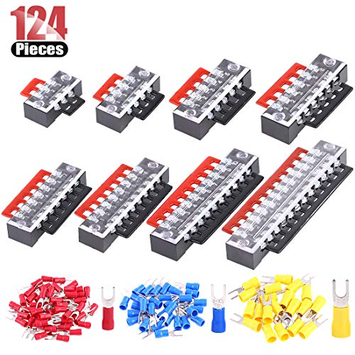 15A//Amp 12 way Terminal Block Connector Electrical Wire Joiner Strip Clear 10pcs