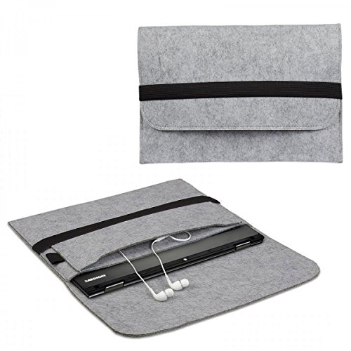 eFabrik Case voor Medion Akoya E2216T Cases Ultrabook Laptop Case Tas Soft Cover Protective Case Sleeve vilt grijs