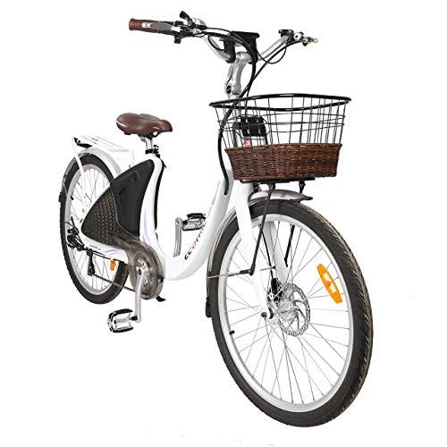 ECOTRIC Powerful Electric Bicycle EBike 26' Bike 36V/10AH Ebike Li-ion Battery City Moped 500W Bike Motor 90% Preassembled Throttle & Pedal Assist