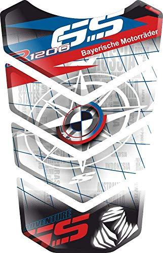 PARASERBATOIO ADESIVO, TANKPAD, TANKSCHUTZ, PROTECTION DE RESEVOIR, RESINATO EFFETTO 3D compatibile con BM.W R1200GS R 1200 R-1200-GS BM.W-R120.0GS GS Adventure ADV GS-Adv v8