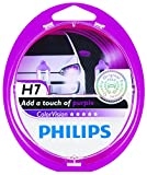 Philips ColorVision H7 Halogen Headlight (Purple), 2 Pack