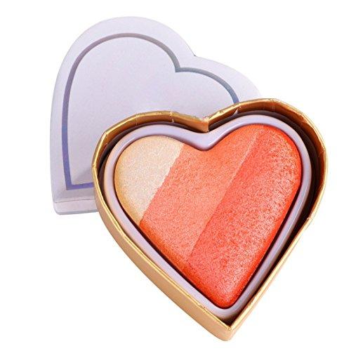 Allbesta Baked Blush - luminoso Regenbogen Highlighter Rouge, Herzförmig 1er Pack (1 x 1 Stück) (#2)