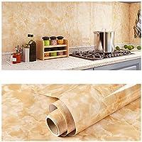 レンタル ローン 再生ステッカーキッチン&バスルームの改装大理石の防水接着剤ステッカーPVCの壁紙洗面台の洗面器具の家具の改修棒-B-7_60cmx10m